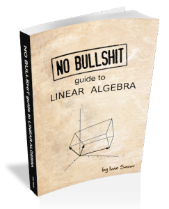 No bullshit guide to linear algebra product shot